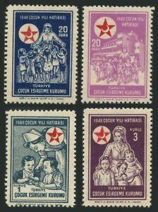 Turkey RA 131-134,MNH.Michel RH 148-151. Red Crescent 1948.Nurse & children.