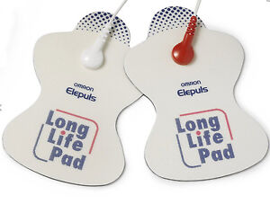2x Omron Long Life Pads for Omron TENS Machine (Cables not Included)