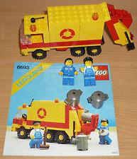 Lego City 6693 Müllwagen v. 1987 + OBA