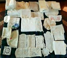 Lot of Antique & Vintage Lace & Linens Estate 80+