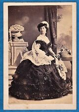 early vintage cdv photo duchess of Wellington by Silvy London UK foto ca 1860