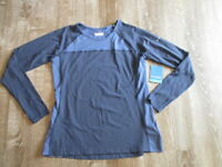 NWT Woman COLUMBIA Omni Shade ACTIVE TOP Size XL purple blue Long Sleeves $45