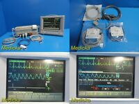 Agilent V24C/M1204A Multiparameter Monitor W/ Modules & Patient Leads ~ 20219