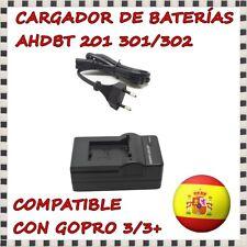 Cargador de Baterías para GoPro Hero 3/3+ AHDBT-201/301/302 con Cable AC Pared