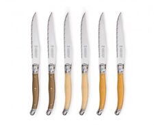 Laguiole Steak Knives stainless steel and beech wood Set of 6 New