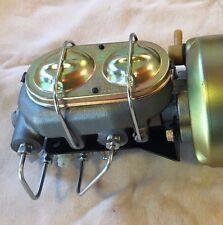 "1955-59 Chev GMC pickup 7"" dual power brake booster master cylinder disc disc"