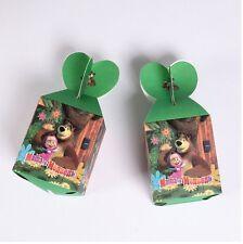 12pcs Masha And Bear Candy Box Kids Birthday Party Supplies Favors Gifts Bag