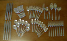 54 pcs Wallace Stradivari Sterling Silver Flatware No Monograms Serv for 8 Plus
