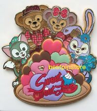 Hong Kong Disney pin HKDL 2018 Valentine's Day - Duffy & Family Sweet Love Pin