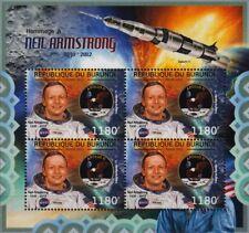 Neil Armstrong NASA APOLLO XI LUNE astronaute espace STAMP SHEET #1 (2012 Burundi)