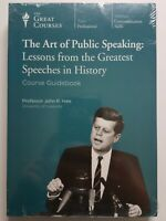 Great Courses: THE ART OF PUBLIC SPEAKING (12 Lectures on 2 DVDs plus Guidebook)