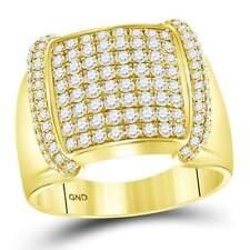 14 kt Yellow Gold  1 3/4CT-DIA MEN RING
