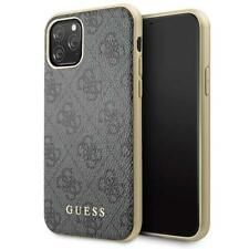 Guess Charms 4G Schutz Hülle Case Hard Cover Grau für Apple iPhone 11 Pro