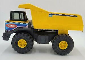 "Tonka Hasbro Mighty Yellow #354 Dump Truck 2012 Press Steel 17"""