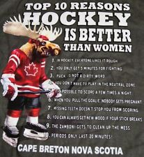 Top 10 Reasons Hockey Is Better Than Woman.New with Tags. Men's T-Shirt Size S