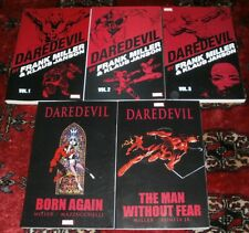 DAREDEVIL by Frank Miller Vol 1-2-3 Paperbacks +Born Again+The Man Without Fear