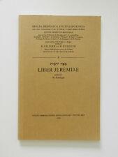 Liber Jeremiae W Rudolph Biblia Hebraica Stuttgartensia K Elliger