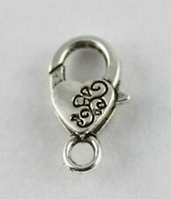 20 Tibetan Silver floral heart lobster clasps Clasp24