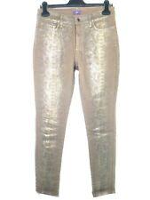 NYDJ Women's Jeans Leggings 6 36 Braun Silver Coating Metallic Skinny Np 179 New