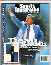 Dean Smith UNC Tarheels Retirement Commemorative Issue Sports Illustrated & Card