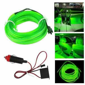 2M Green LED Car Interior Decorative Atmosphere Wire Strip Light Accessories G