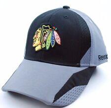 Chicago Blackhawks Reebok TT20Z NHL Practice Cap Flex Fit Hockey Cap Hat  L/XL