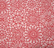 Amazing Lace Studio 8 BTY Quilting Treasures Red White 100% Cotton Screenprint