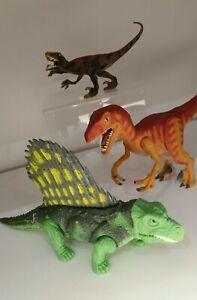 Kenner Jurassic Park Vintage Dinosaurs Lot Dimetrodon Velociraptor 1990s Nice!