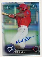 2016 Bowman Chrome * VICTOR ROBLES * On Card AUTO * REFRACTOR REF RC * #423/499