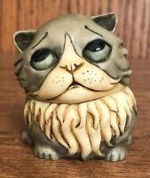"Pot Bellys Harmony Kingdom Cat Figurine ""KITLING"" Trinket Box 2001"