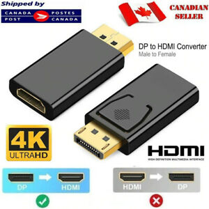 DisplayPort DP Male To HDMI Female Adapter Connector Converter For 1080P HDTV PC