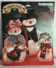 Frosty Friends Primitive Doll Kit Pack Complete Kit From Daisy Kingdom NOS