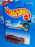 Hot Wheels 1997 Mainline #347 Power Pistons Red w/ 2 Hatch Colors Variation SBs