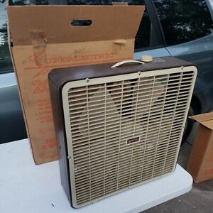 SUPERLECTRIC Carry About  Brown Model 2023b 3 Speed Box Fan !!