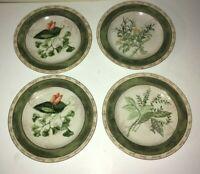 "(4) American Atelier BOUQUET GARNI  8"" Salad Plates"