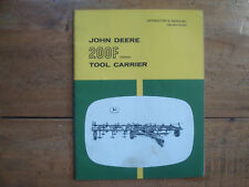 John Deere 200F Series Tool Carrier Operator's Manual