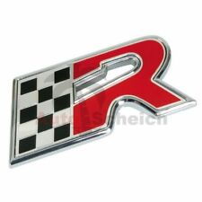 R Emblem Zeichen Chrom Schriftzug Auto Aufkleber Motorhaube Kotflügel 3D Logo