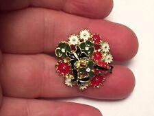 handmade gold enamel flower ladybug butterfly ring adjustable crystals fashion