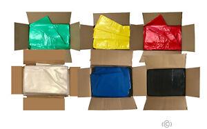 "All Colored Refuse Sacks Bin Bags 150G Rubbish Scrap Waste Large 18"" x 29"" x 38"""