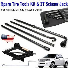 For 2004-2014 Ford F150 Spare Tire Lug Wrench Tool Kit With 2 Tonne Scissor Jack