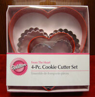 Wilton - From The Heart 4pc. Nesting Cookie Cutter Set / 2308-1203