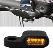 Motorrad Mini LED Blinker + Blinkerhalter 21 Schwarz Pulver