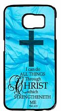 Christian Bible Verse Cross Case Rubber/Hard Cover Samsung Galaxy or Note Models