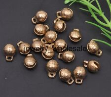 20pcs Small Bells Little Copper Jingle Bell Dangle Charms With Loop 7x9x12mm