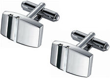Rhodium Cufflinks with White Mother of Pearl and Black Onyx accents, SC-139, NEW