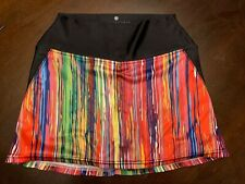 Faye & Florie Women's Multicolored Tennis Athletic Skirt Built In Shorts Size S