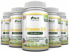 Vitamin D3 10000IU 5 x 365 weich Softgel super stark 100% Back Garantie Nu U