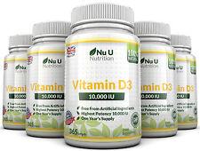 Vitamin D3 10000IU 5 Flaschen 365 weich Softgel super stark 100% Back Garantie