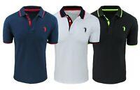 Polo T-shirt uomo cotone Piquet slim fit maglia casual estiva bianco blu nero