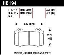 Hawk Performance HB194R.570 Consistent Brake Release Characteristics Disc Brake